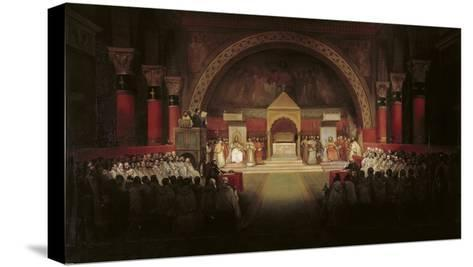 The Chapter Assembly of the Templars-Francois-Marius Granet-Stretched Canvas Print