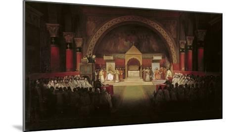 The Chapter Assembly of the Templars-Francois-Marius Granet-Mounted Giclee Print