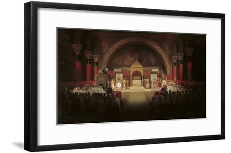 The Chapter Assembly of the Templars-Francois-Marius Granet-Framed Art Print