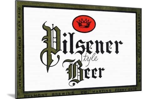 Pilsener Style Beer--Mounted Art Print