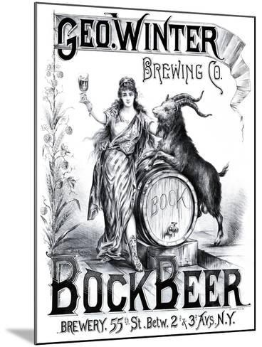 George Winter Brewing Company--Mounted Art Print