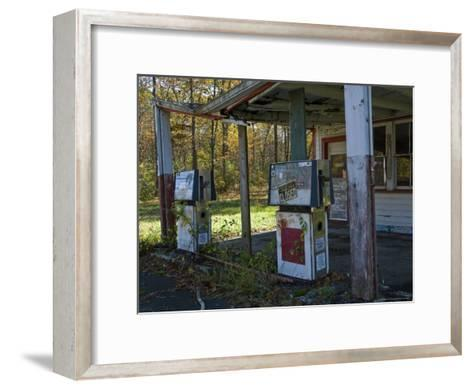 Abandoned Gas Station-Todd Gipstein-Framed Art Print