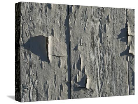 Close Up of Peeling Paint on an Old Building-Todd Gipstein-Stretched Canvas Print
