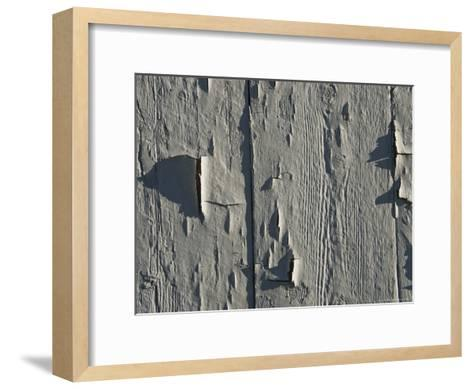 Close Up of Peeling Paint on an Old Building-Todd Gipstein-Framed Art Print