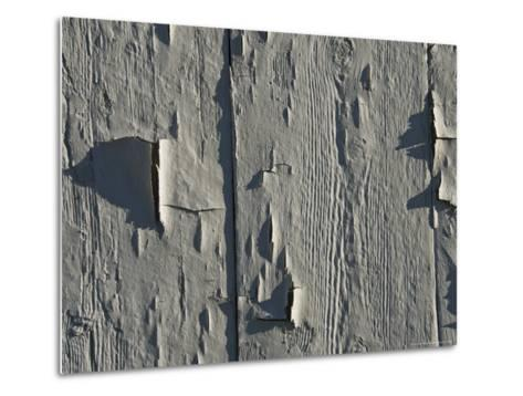 Close Up of Peeling Paint on an Old Building-Todd Gipstein-Metal Print