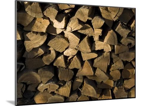 Close Up of a Pile of Firewood-Todd Gipstein-Mounted Photographic Print