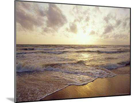Warm Seas and Waves Roll onto a Tropical Island Beach at Sunset-Jason Edwards-Mounted Photographic Print
