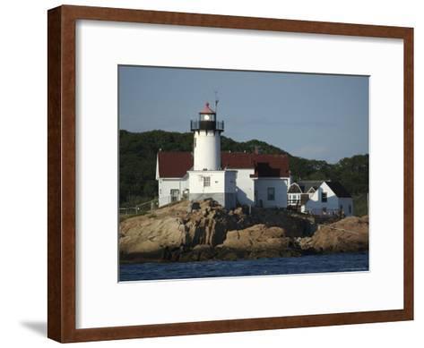 Eastern Point Lighthouse at Cape Ann in Gloucester, Massachusetts-Tim Laman-Framed Art Print