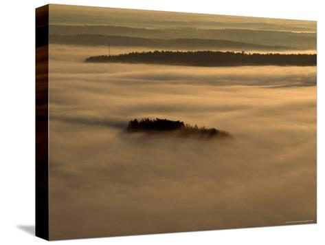 Low Lying Fog Over Merrymeeting Bay at Sunrise-Heather Perry-Stretched Canvas Print