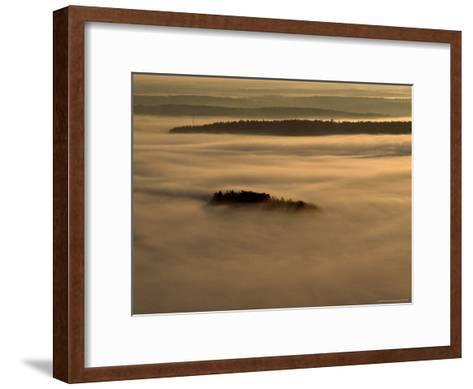 Low Lying Fog Over Merrymeeting Bay at Sunrise-Heather Perry-Framed Art Print