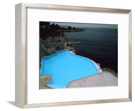 Pool on Mediterranean, Hotel Du Cap-David Evans-Framed Art Print