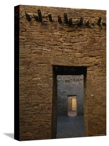 Doorway and Walls Inside Pueblo Bonito-Bill Hatcher-Stretched Canvas Print