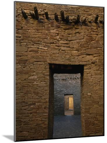 Doorway and Walls Inside Pueblo Bonito-Bill Hatcher-Mounted Photographic Print