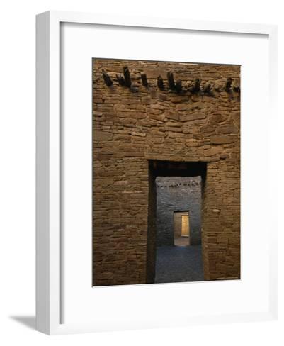 Doorway and Walls Inside Pueblo Bonito-Bill Hatcher-Framed Art Print