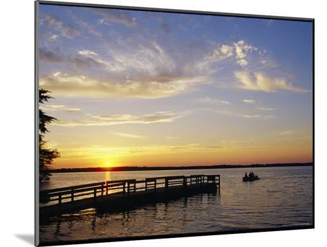 Anglers Returning to Dock, Pymatuning State Park-Skip Brown-Mounted Photographic Print