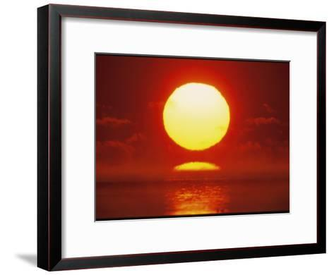 Brilliant Sunrise Over Nosuke Bay-Tim Laman-Framed Art Print