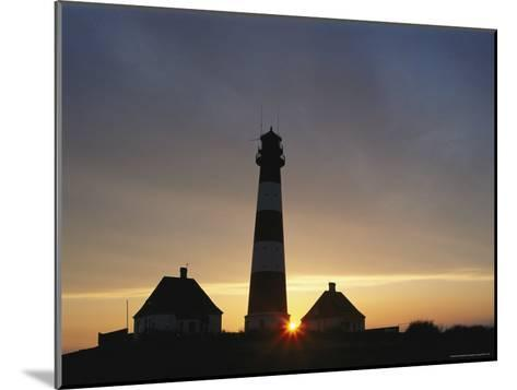 Lighthouse at Westerhever, Wattenmeer National Park, Germany-Norbert Rosing-Mounted Photographic Print