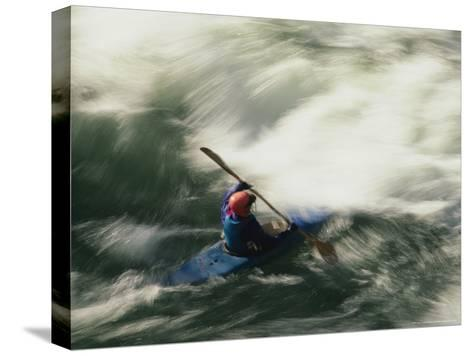 White Water Kayaking on the Middle Fork of the Smith River-Phil Schermeister-Stretched Canvas Print