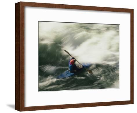 White Water Kayaking on the Middle Fork of the Smith River-Phil Schermeister-Framed Art Print