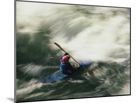 White Water Kayaking on the Middle Fork of the Smith River-Phil Schermeister-Mounted Photographic Print