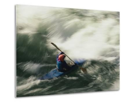 White Water Kayaking on the Middle Fork of the Smith River-Phil Schermeister-Metal Print