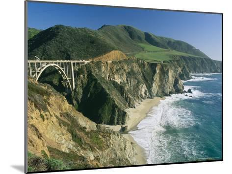 The Beach and Shoreline Along Highway 1 Near Bixby Bridge-Phil Schermeister-Mounted Photographic Print