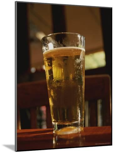 Cool Glass of Amber Beer on the Popular Riverwalk-Stephen St^ John-Mounted Photographic Print