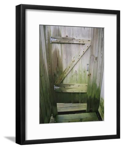 Weathered Door at a Seaside Cottage-Vlad Kharitonov-Framed Art Print