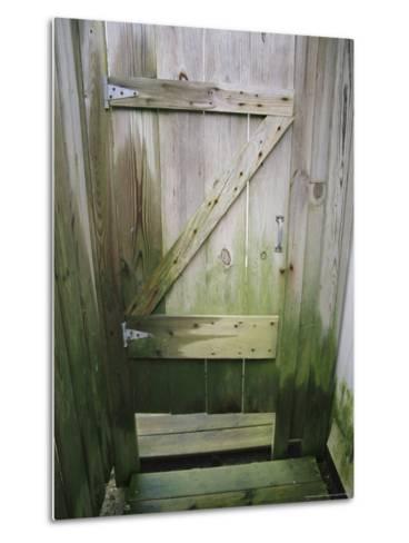 Weathered Door at a Seaside Cottage-Vlad Kharitonov-Metal Print