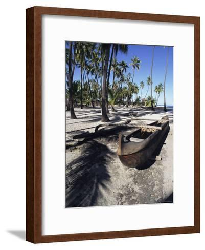 An Outrigger Canoe Rests on a Beach-Heather Perry-Framed Art Print