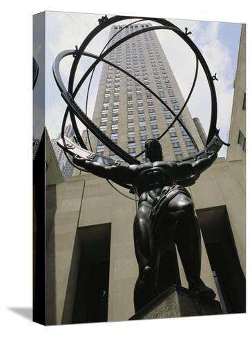 Statue of Atlas in Rockefeller Center-Todd Gipstein-Stretched Canvas Print