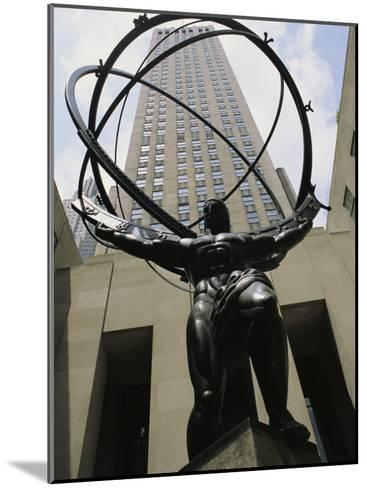Statue of Atlas in Rockefeller Center-Todd Gipstein-Mounted Photographic Print