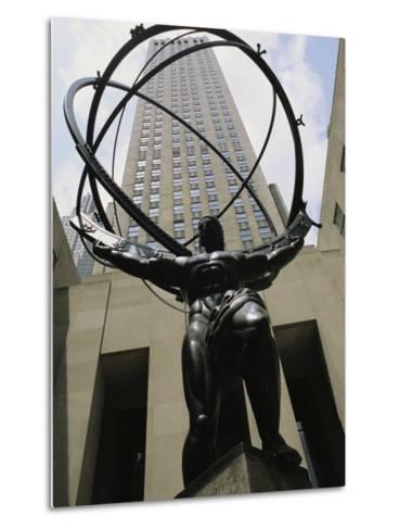 Statue of Atlas in Rockefeller Center-Todd Gipstein-Metal Print