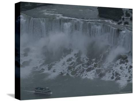 Elevated View of Niagara Falls-Todd Gipstein-Stretched Canvas Print