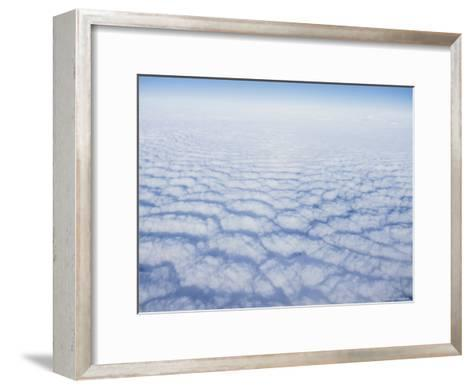 Cloud Pattern over the Pacific Ocean at 30,000 Feet-Rich Reid-Framed Art Print