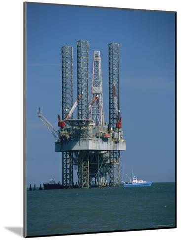 Oil Rig Under Construction-Raymond Gehman-Mounted Photographic Print