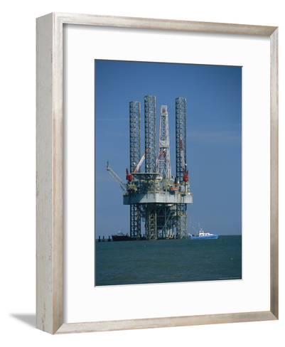 Oil Rig Under Construction-Raymond Gehman-Framed Art Print