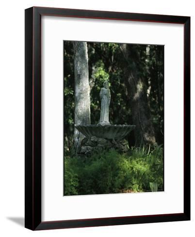 Fountain Bird Bath on the Saint George Episcopal Church Grounds-Raymond Gehman-Framed Art Print