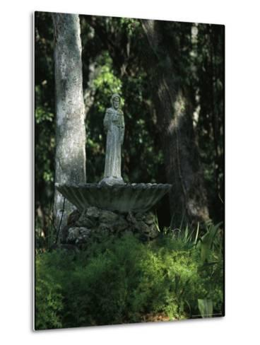 Fountain Bird Bath on the Saint George Episcopal Church Grounds-Raymond Gehman-Metal Print