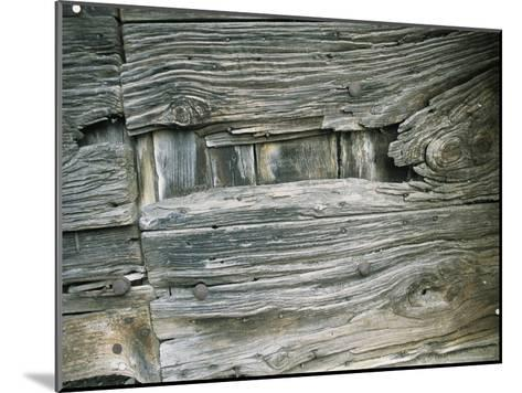 Close View of Wood Barn Siding Nailed To a Wall-Todd Gipstein-Mounted Photographic Print