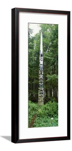 Haida Totem Pole in Tongass National Forest, Alaska-Rich Reid-Framed Art Print