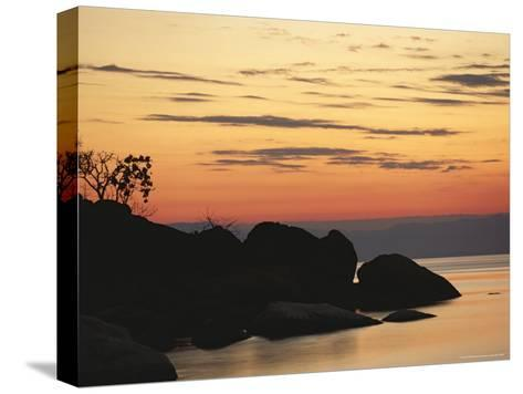 Lake Malawi at Sunset-Peter Carsten-Stretched Canvas Print