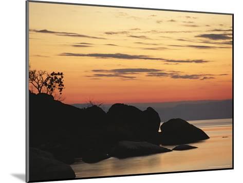 Lake Malawi at Sunset-Peter Carsten-Mounted Photographic Print