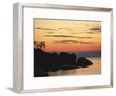 Lake Malawi at Sunset-Peter Carsten-Framed Art Print