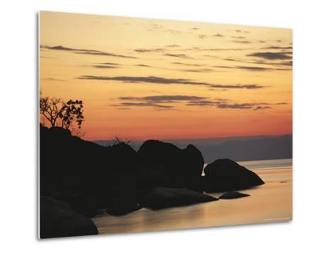 Lake Malawi at Sunset-Peter Carsten-Metal Print