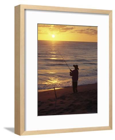 Fishing at Sunrise-Raymond Gehman-Framed Art Print