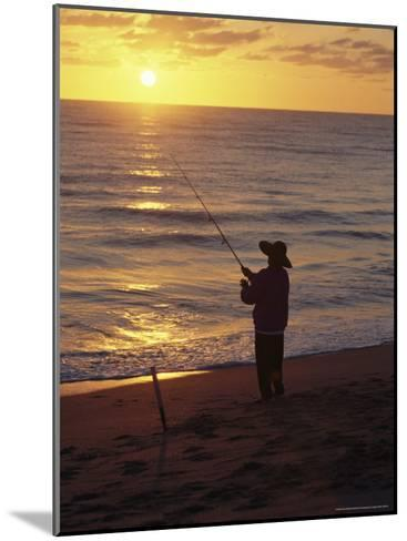 Fishing at Sunrise-Raymond Gehman-Mounted Photographic Print