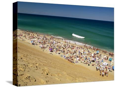 Sunbathers at Newcomb Hollow Beach in Wellfleet-Michael Melford-Stretched Canvas Print