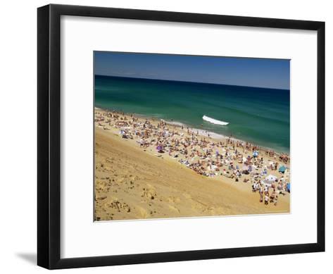 Sunbathers at Newcomb Hollow Beach in Wellfleet-Michael Melford-Framed Art Print
