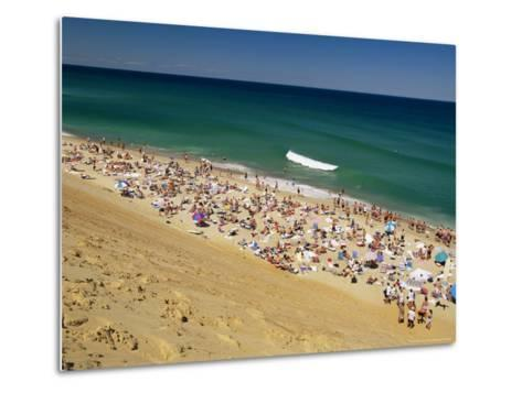 Sunbathers at Newcomb Hollow Beach in Wellfleet-Michael Melford-Metal Print